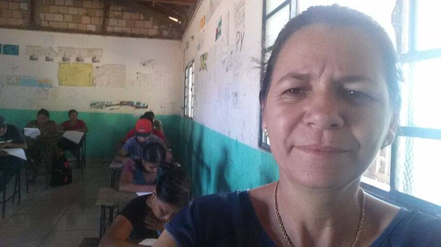 Enisandra foi uma das grandes responsáveis pela criação do projeto educacional nas aldeias