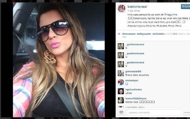 Mensagem Para Foto Instagram: Namoro De Babi Rossi E Olin Batista, Filho De Eike, Teria
