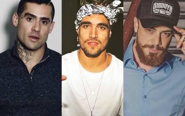 Yuri Fernandes, Caio Castro e Felipe Titto
