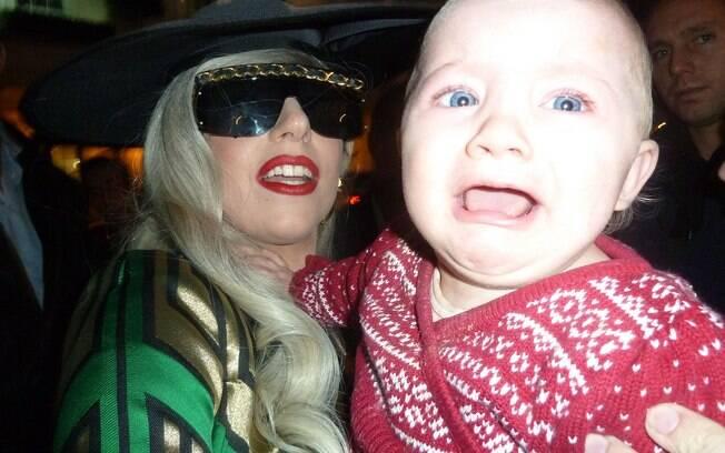 Lady Gaga assustou a pequena Loissa