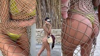 Bruna Marquezine chama atenção com vestido de