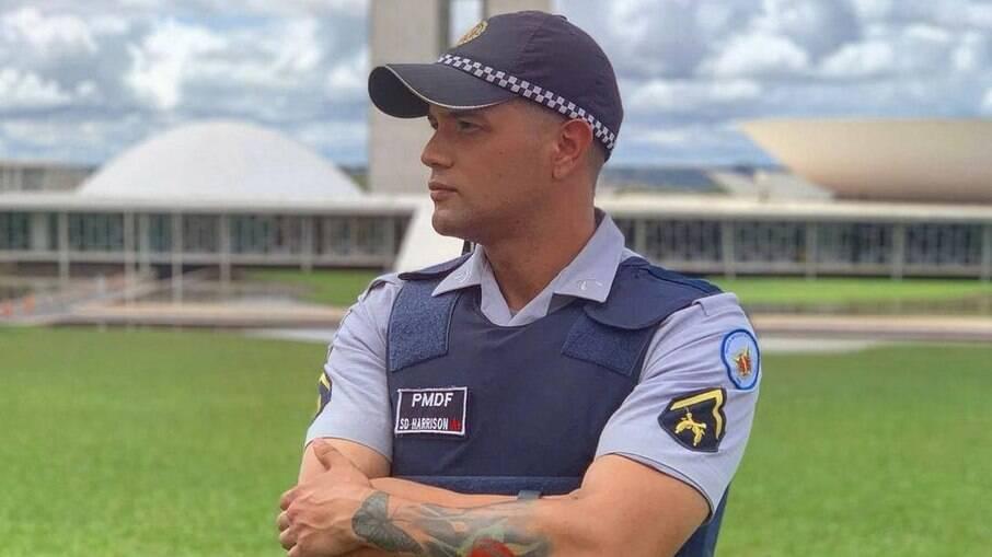 O policial militar Henrique Harrison