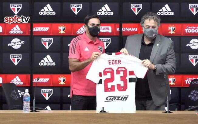 Eder usará a camisa de número 23