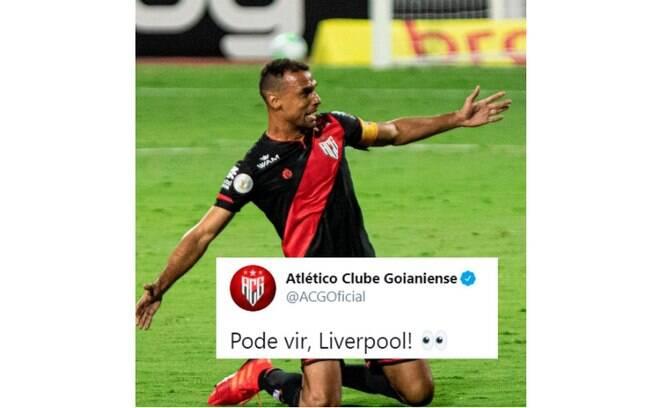 Perfil do Atlético-GO tirou onda
