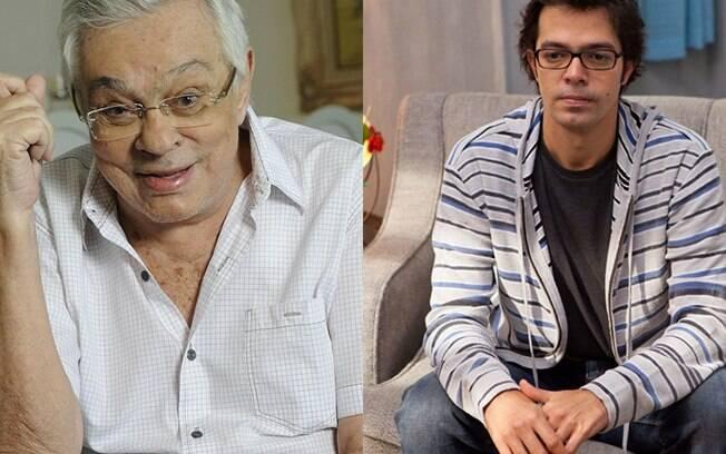 O ator morto Chico Anysio e seu filho Bruno Mazzeo não compartilham o mesmo sobrenome