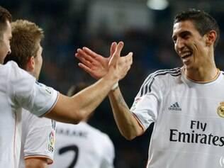 Di María abriu o caminho para goleada do Real Madrid sobre o Almería
