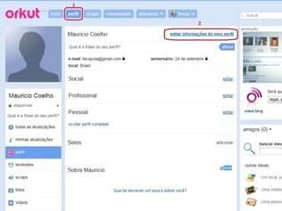 Edição de perfis do Orkut é simples e rápida