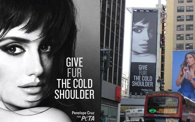 Penélope Cruz em campanha para o PETA