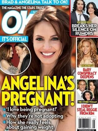 Angelina Jolie estaria grávida de três meses