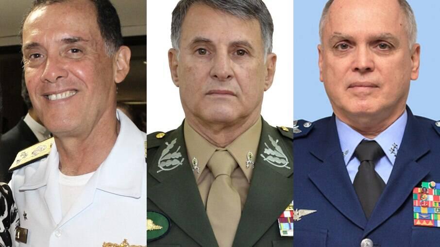 Ilques Barbosa, da Marinha; Edson Leal Pujol, do Exército; e Antônio Carlos Bermudez, Aeronáutica; serão todos exonerados a pedido do presidente Bolsonaro
