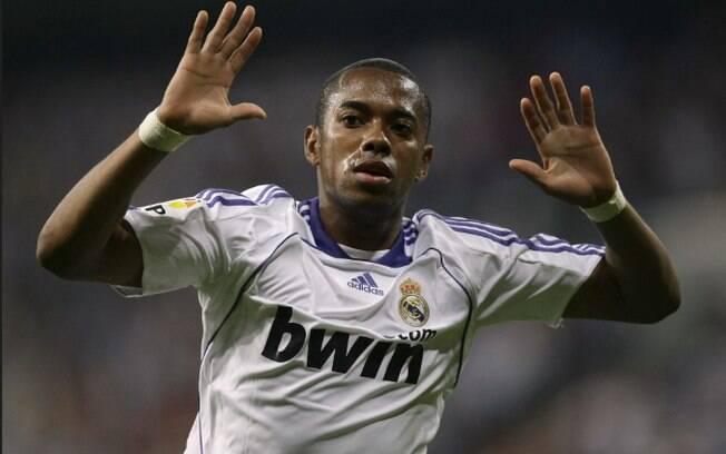 Robinho defendeu o Real Madrid de 2005 a 2008
