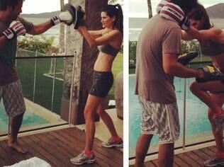 Isabella Fiorentino treina luta no feriado