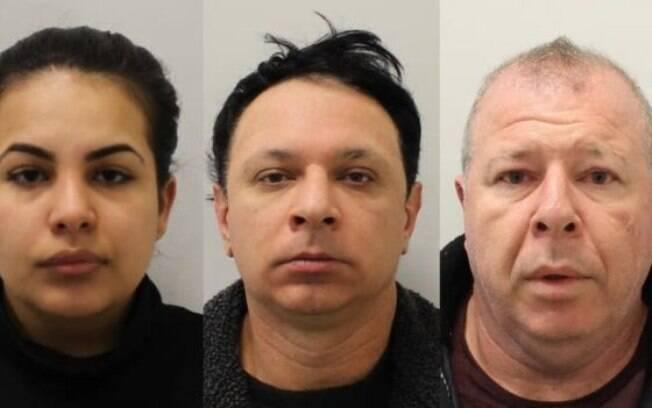 O casal de paulistas Flávia Xavier-Sacchi, de 23 anos, e Renato Dimitrov Sacchi, de 43 anos e o irmão dele, Raul Sacchi, de 49 foram presos em Londres.
