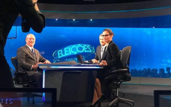 Candidato Ciro Gomes (PDT) em entrevista ao Jornal Nacional