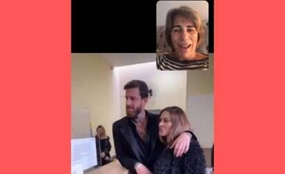 Glória Pires participou de casamento de Cleo por vídeo