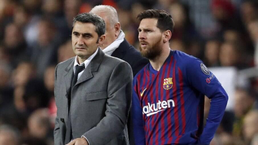 Jornais espanhóis apontaram conflito entre Valverde e Messi