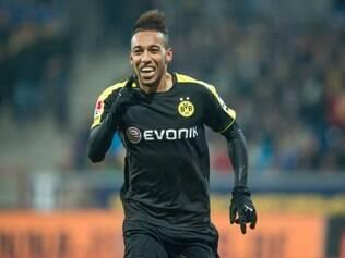 Pierre-Emerick Aubameyang deu a vitória para o Borussia nesta sexta-feira