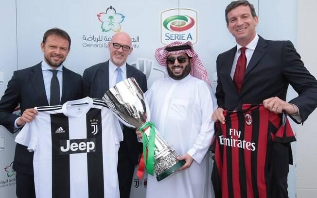 Supercopa Italiana entre Juventus e Milan será disputada na Arábia Saudita