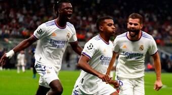 Rodrygo marca no final e Real Madrid vence a Inter de Milão