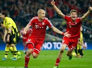 Robben fez o gol do título diante do Borussia Dortmund na final da Champions 2012/2013