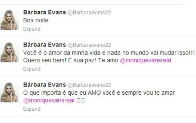 Bárbara Evans se declara para a mãe