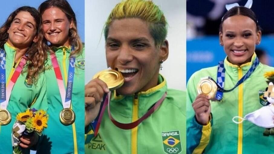 Pelo menos 75% das medalhas de ouro do Brasil foram conquistadas por mulheres