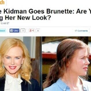 Nicole Kidman fica morena