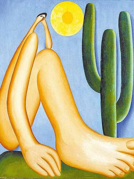 Abaporu, pintura de óleo sobre tela de Tarsila do Amaral, 1929