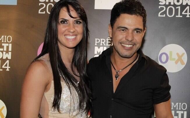 Graciele Lacerda e Zezé Di Camargo durante o 'Prêmio Multishow'