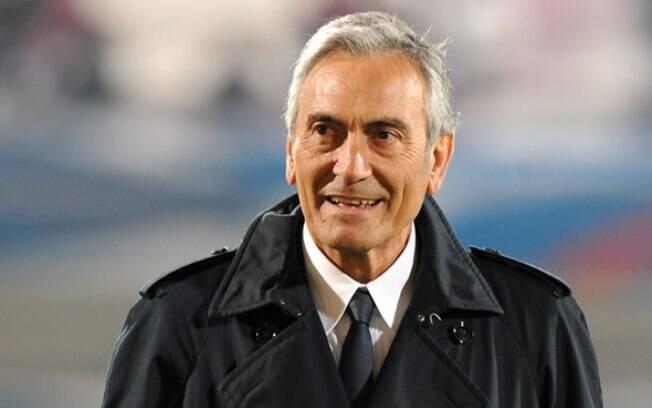 Gabriele Gravina, presidente da Lega Pro (terceira divisão do futebol italiano), é o candidato único para chefiar a Federação Italiana de Futebol