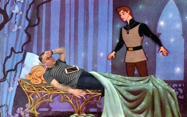 CEO dormindo como A Bela Adormecida.
