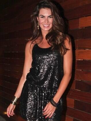 Renata Molinaro no aniversário Gui Santana