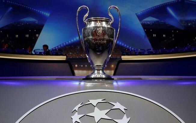 O cobiçado troféu de campeão da Liga dos Campeões da Europa