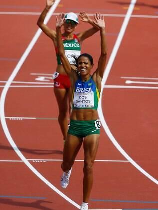 Juliana dos Santos arrancou nos metros finais para terminar em primeiro