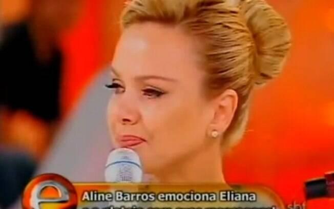Eliana também já se emocionou ouvindo a cantora apresentar a mesma música