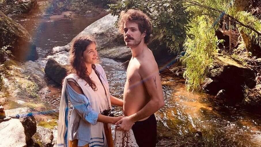 Maurício Destri e a namorada Sabrina Samuel