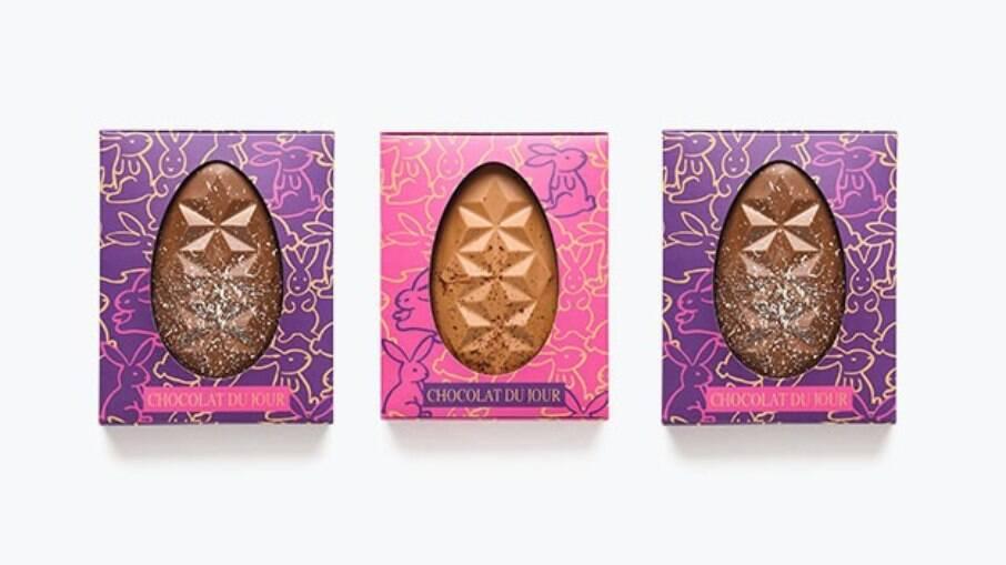 Trio de ovos trufados lembram um porta-joias