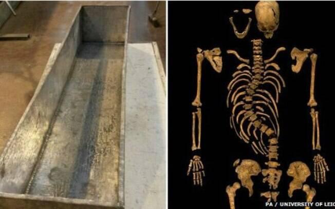 Esqueleto de monarca foi colocado em um 'ossário' de chumbo neste semana