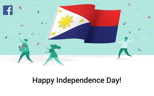 Representação da bandeira das Filipinas pelo Facebook indica que o país está em guerra