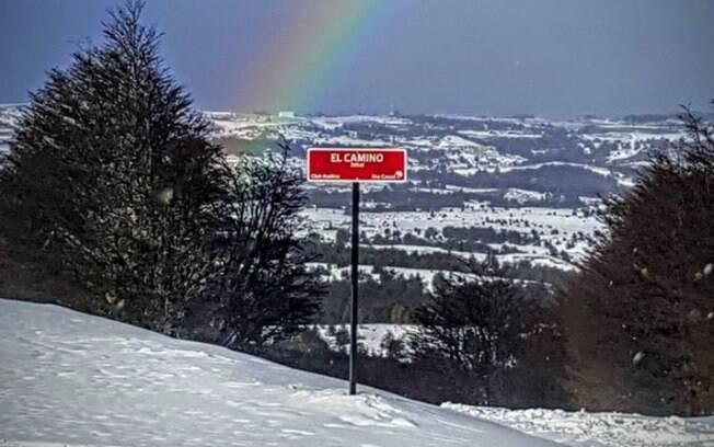 Uma das pistas do Cerro Mirador, que fecha a lista de lugares para esquiar no Chile