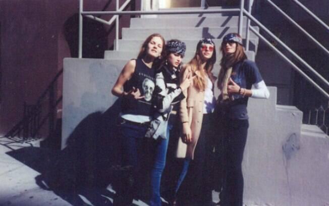 Marcelle Bittar, Isabeli Fontana, Fabiana Semprebom e Caroline Bittencourt juntas nos anos 90