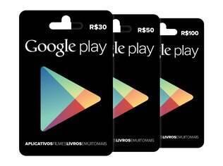 Google lança no Brasil cartões pré-pagos para usuários comprarem aplicativos, livros e filmes na Google Play, loja do Android