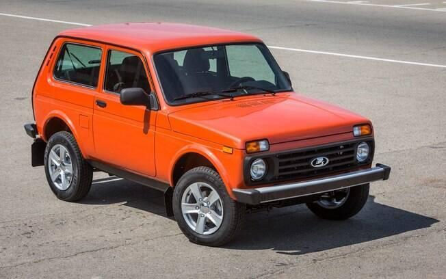 Lada Niva no modelo atual da marca, que pouco mudou da época em que era vendido no Brasil