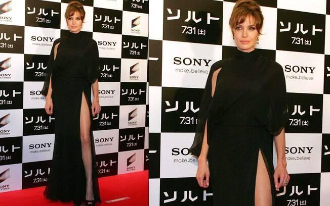 Angelina no lançamento de