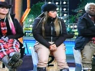 Andressa Urach,  Denise Rocha e Ivo Meirelles: um deles ainda pode escapar da Roça