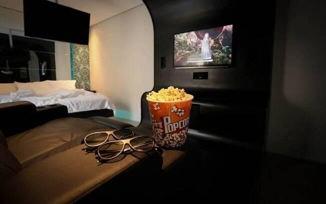 Cinema 4D é a atração de uma das suítes do Motel Lush, em São Paulo