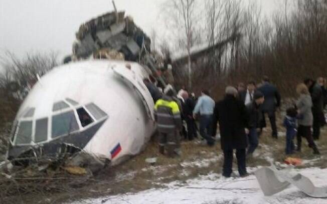 Tupolev Tu-154 cai no Mar Negro após a decolagem na Rússia