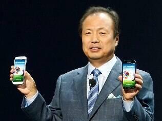 Galaxy S4, novo smartphone da Samsung, é apresentado em Nova York (EUA)