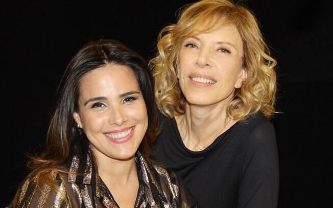Wanessa e Marília Gabriela nas gravações do programa