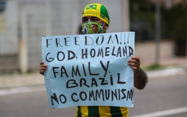 Manifestante em ato pró-Bolsonaro no Pará
